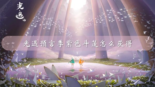 光遇预言季紫色毛斗斗篷获取攻略