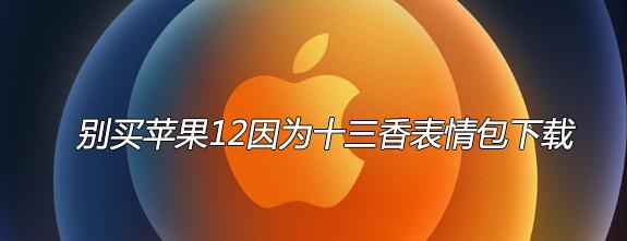 别买苹果12因为十三香表情包下载
