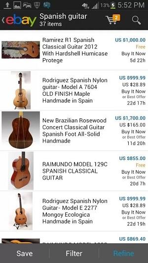 eBay app截图