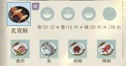 江湖悠悠炙双鲜食谱