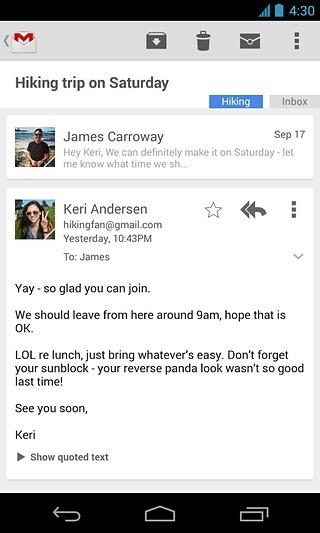 gmail邮箱截图