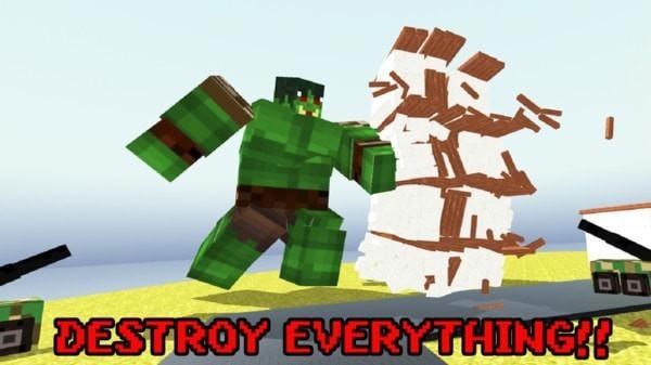 像素巨人摧毁城市