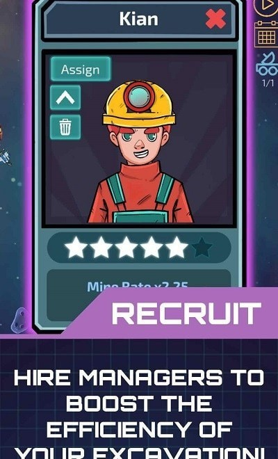闲置的行星矿工
